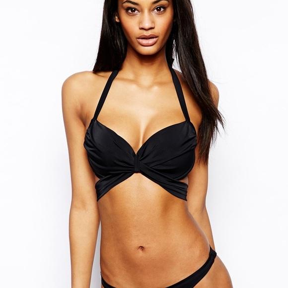 9ced9dc5e3b 36 DD E ASOS Fuller Bust Wrap Bikini Top